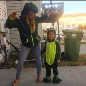 Dragon HALLOWEEN Kids Costume Adult  Zip Up Jacket